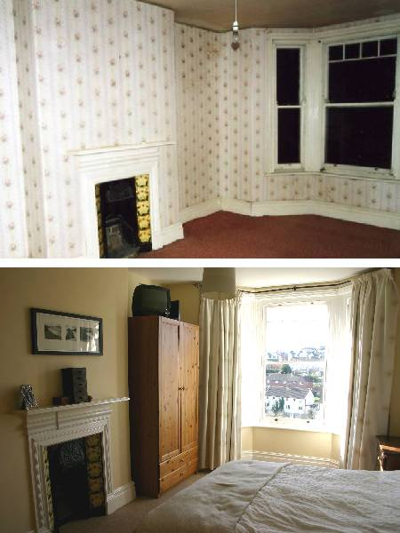 Renovation and redecoration of a bedroom
